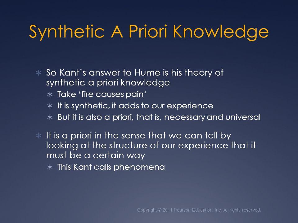 Synthetic A Priori Knowledge