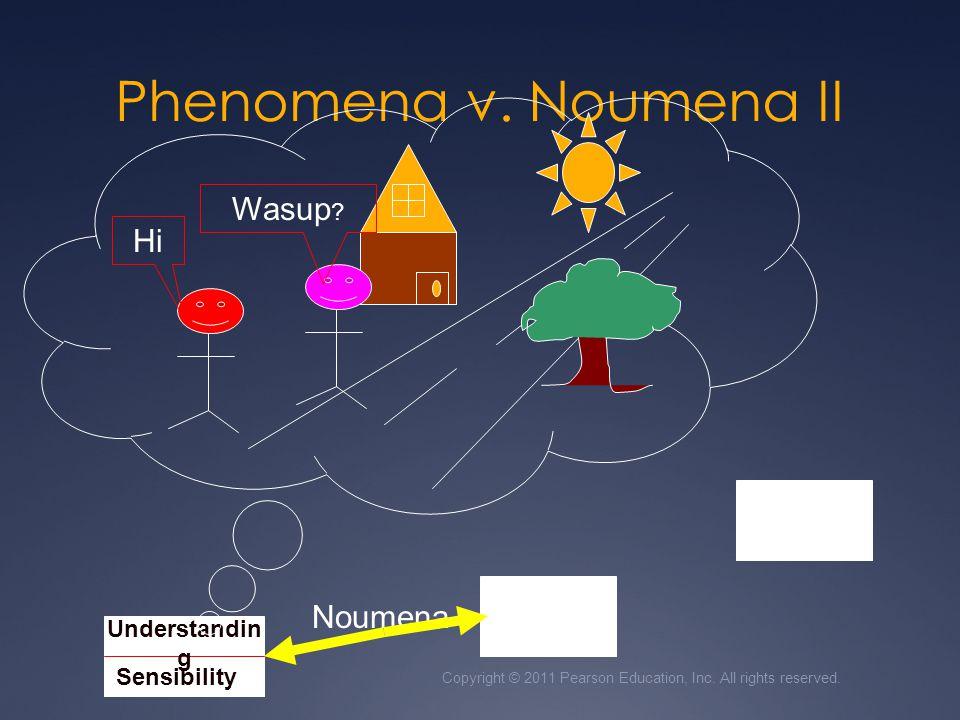 Phenomena v. Noumena II Wasup Hi Noumena Understanding Sensibility