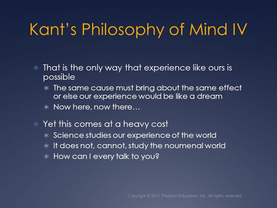 Kant's Philosophy of Mind IV