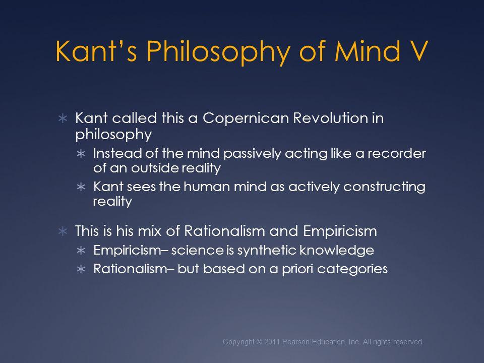 Kant's Philosophy of Mind V