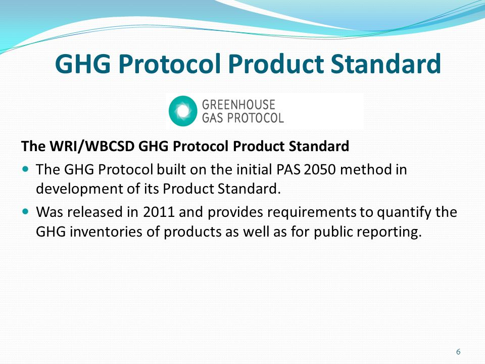 GHG Protocol Product Standard