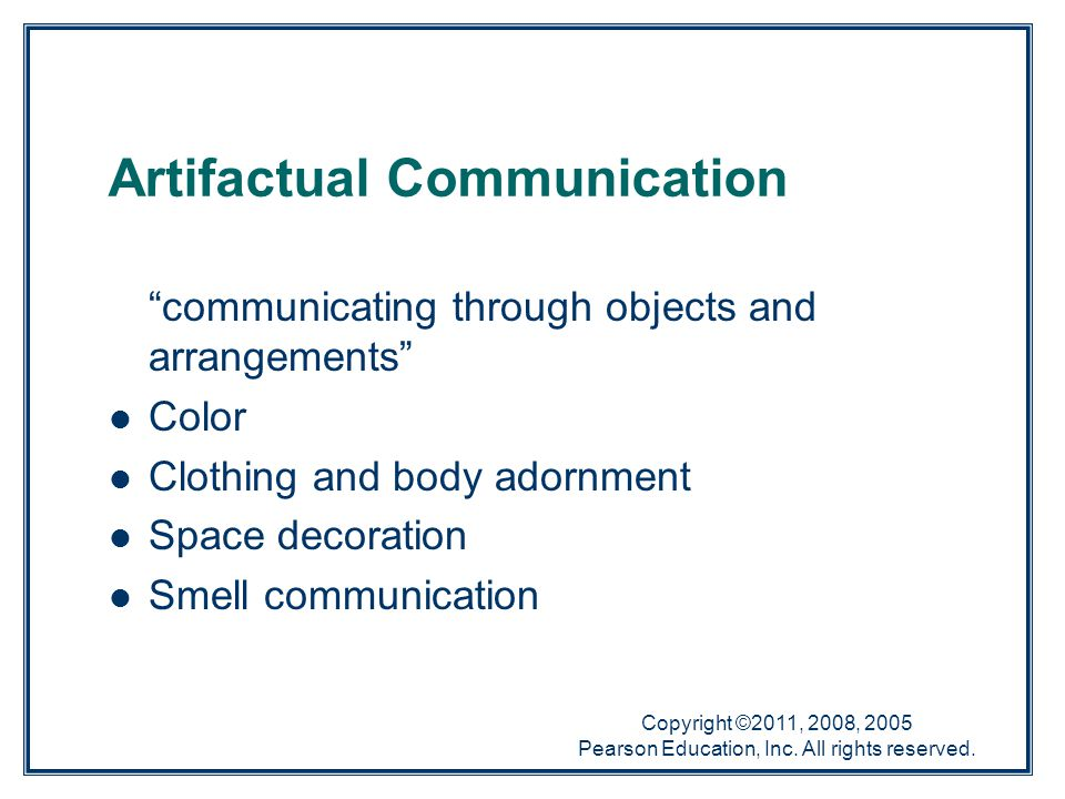 Artifactual Communication