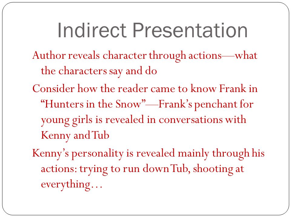Indirect Presentation