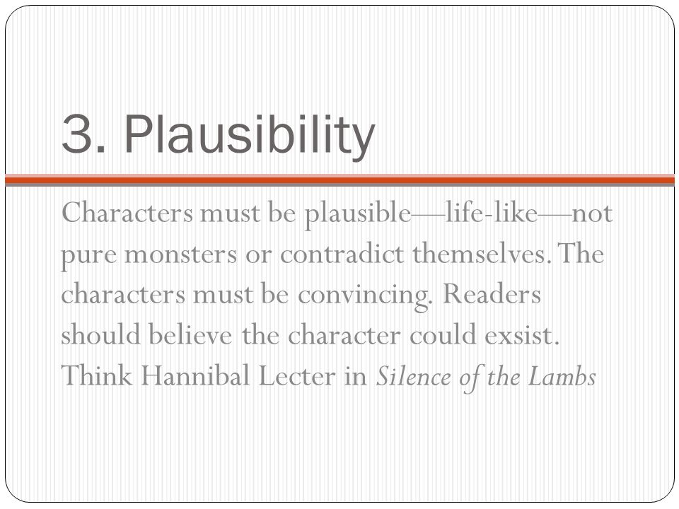 3. Plausibility