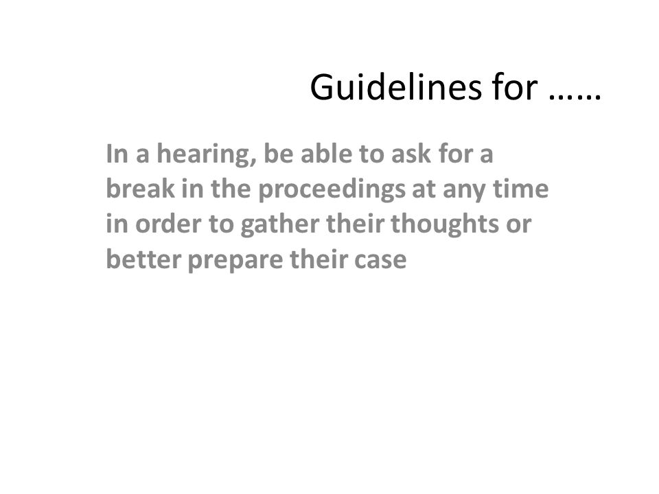 Guidelines for ……