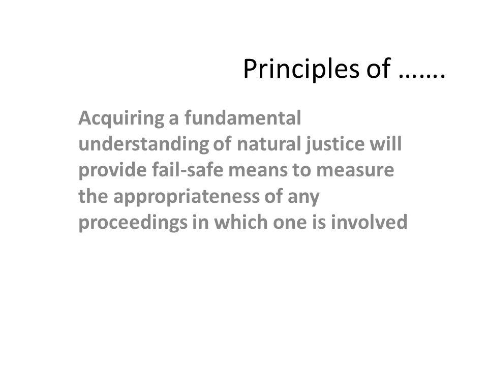 Principles of …….