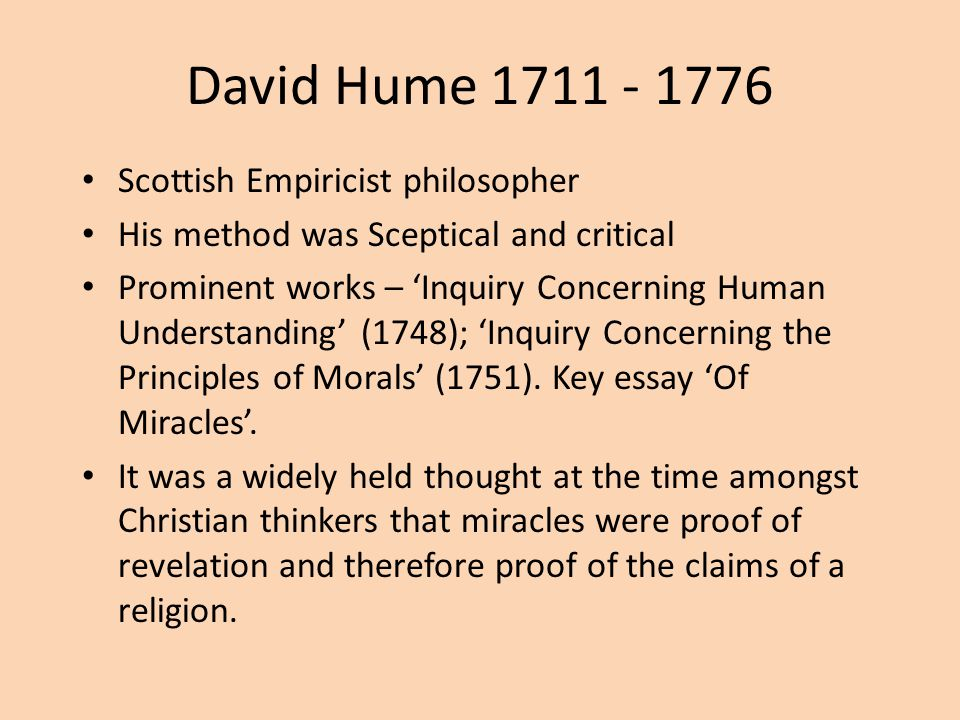 cause and effect hume essay