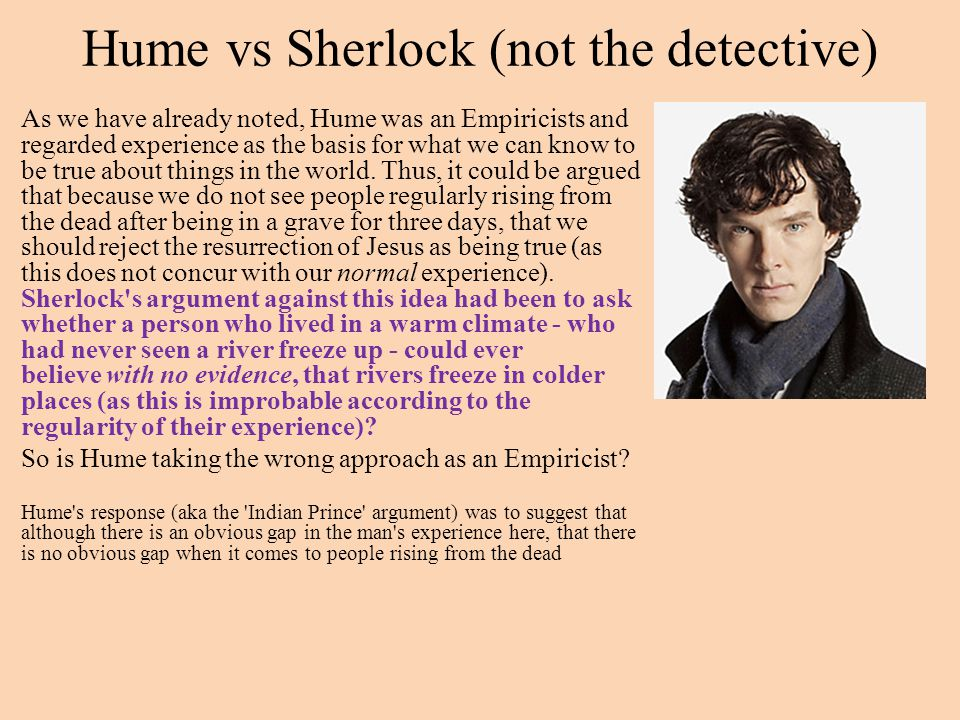 Hume vs Sherlock (not the detective)