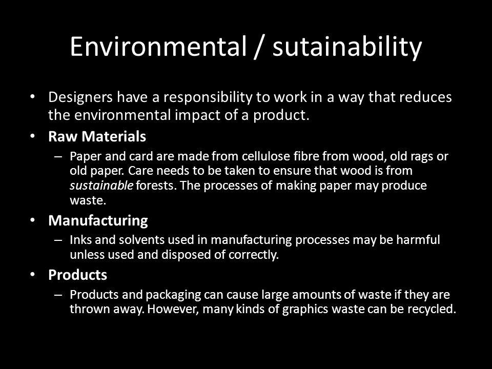 Environmental / sutainability