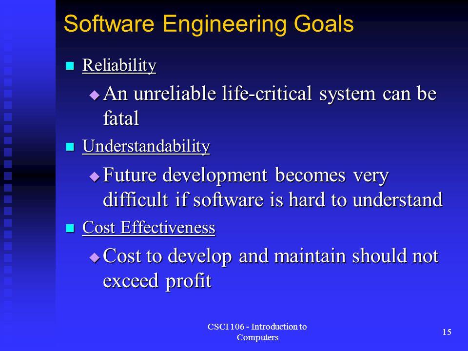 Software Engineering Goals