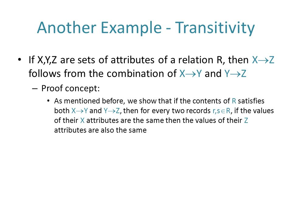 Another Example - Transitivity
