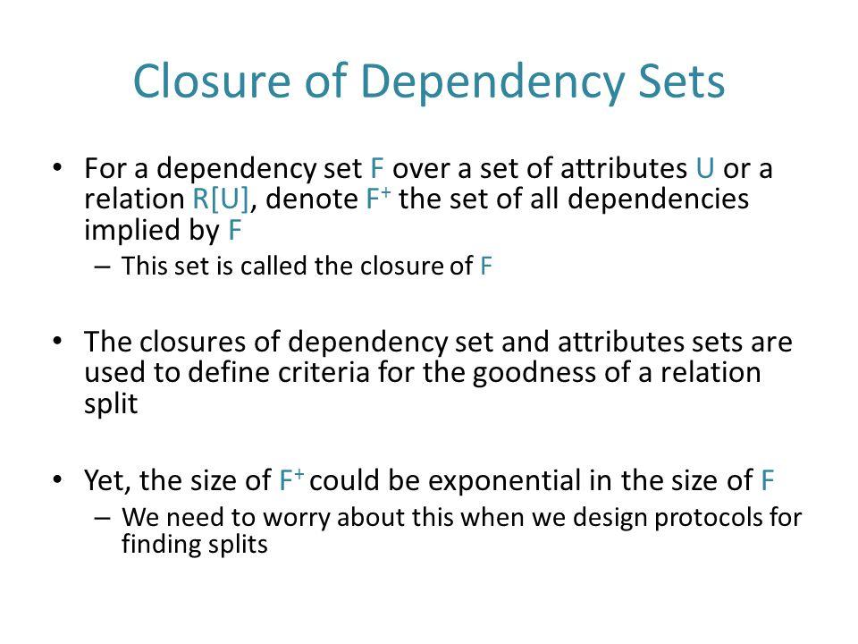 Closure of Dependency Sets