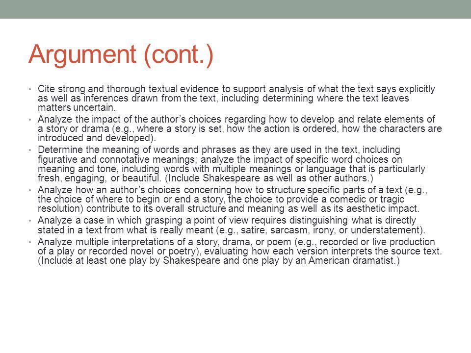 Argument (cont.)