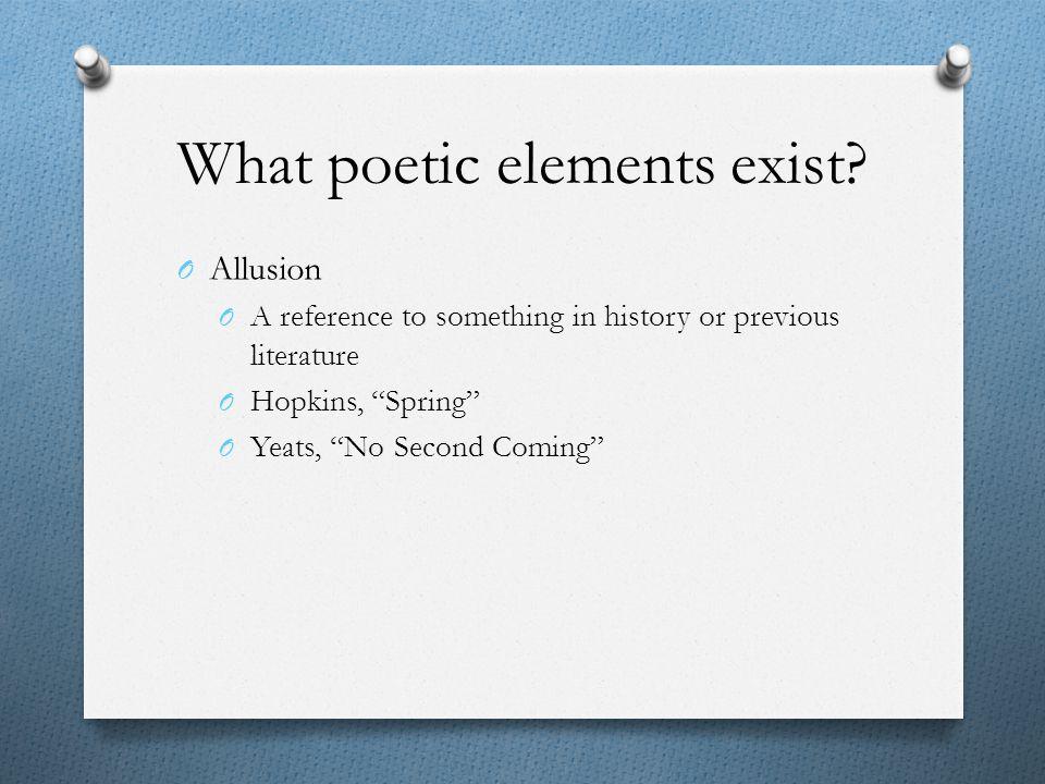 What poetic elements exist