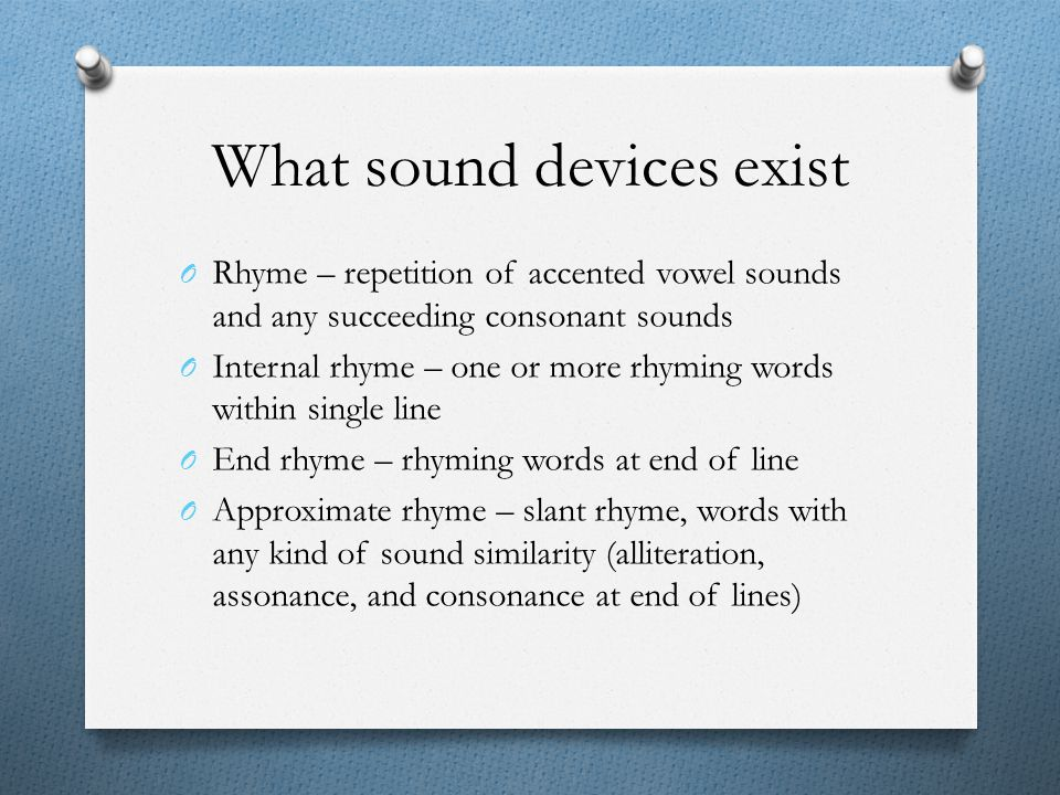 What sound devices exist