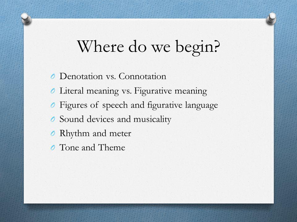 Where do we begin Denotation vs. Connotation