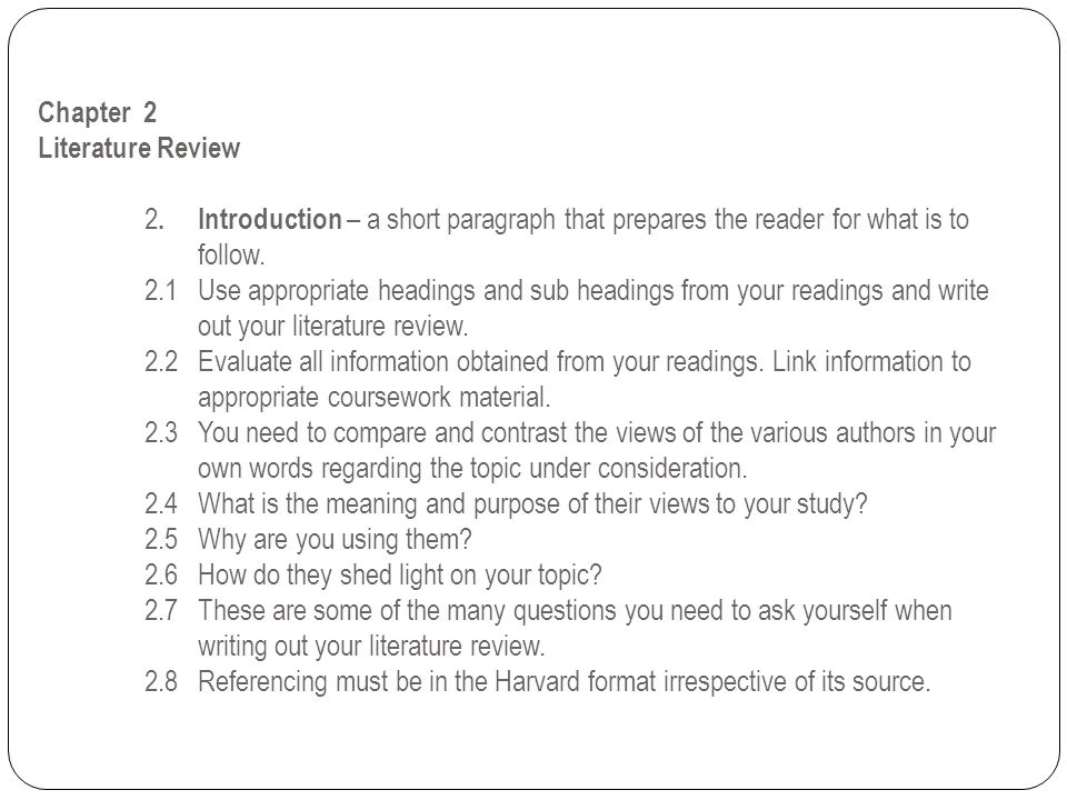 Chapter 2 Literature Review. 2