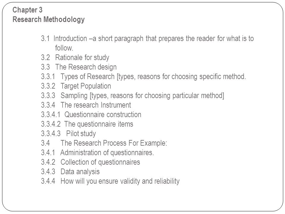 Chapter 3 Research Methodology. 3