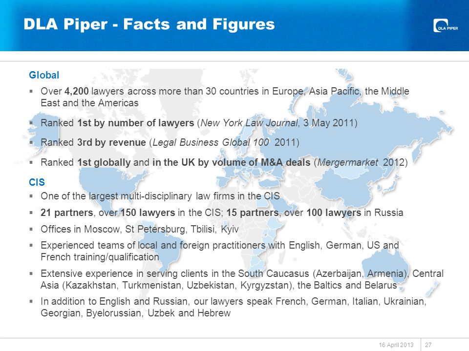 DLA Piper - Facts and Figures