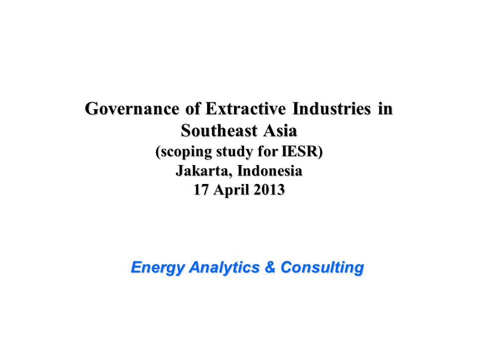 Energy Analytics & Consulting