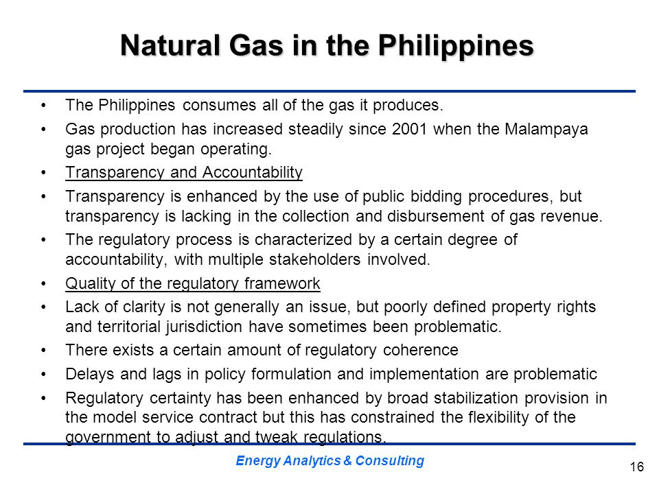 Natural Gas in the Philippines