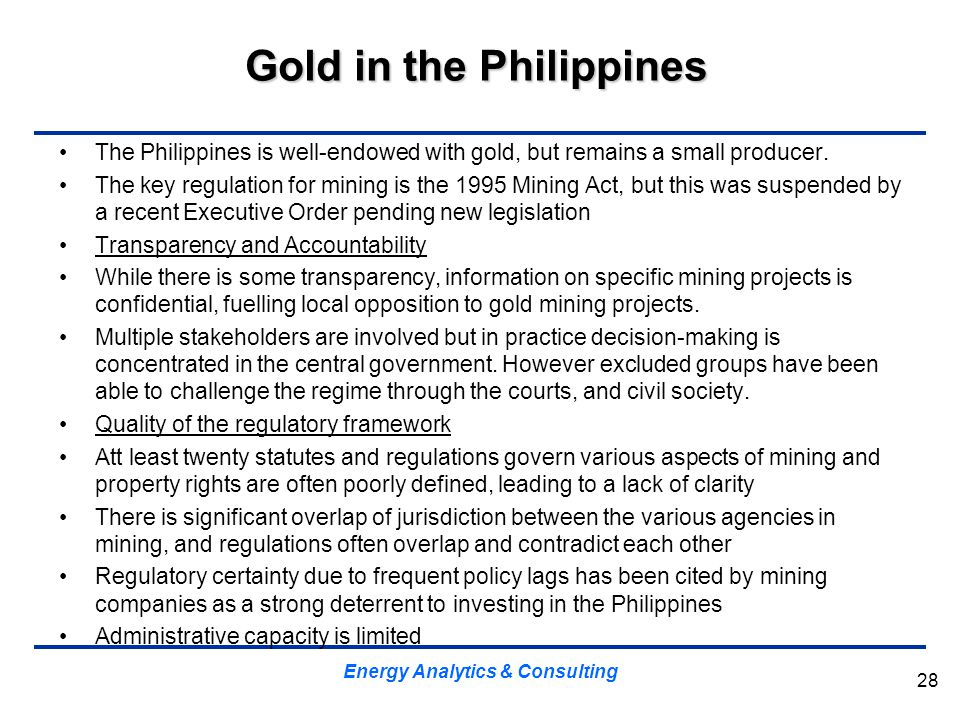 Gold in the Philippines
