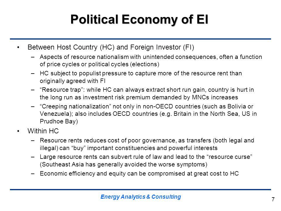 Political Economy of EI