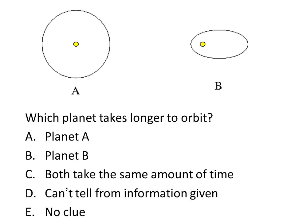 Which planet takes longer to orbit
