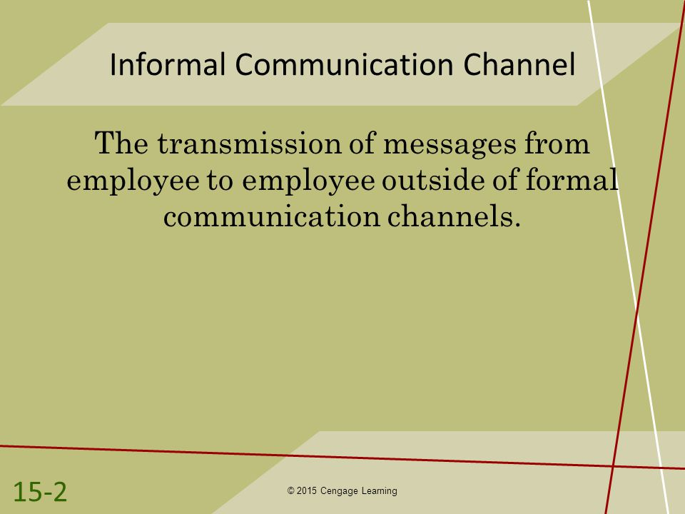 Informal Communication Channel