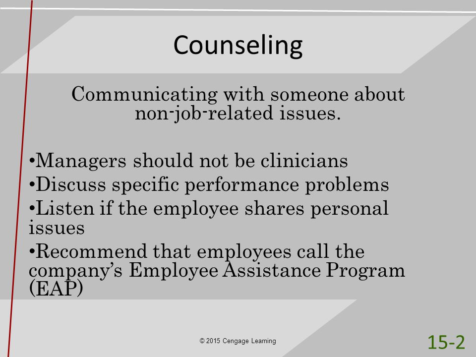 Communicating with someone about non-job-related issues.