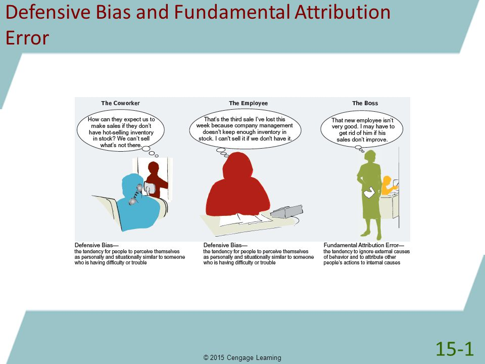 Defensive Bias and Fundamental Attribution Error