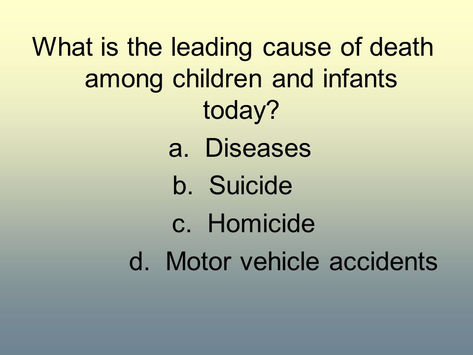 What is the leading cause of death among children and infants today
