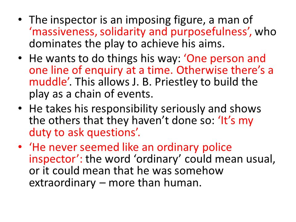 inspector calls j b priestly does play show up contrasts b