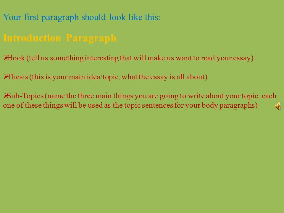 easy way to write a 5 paragraph essay