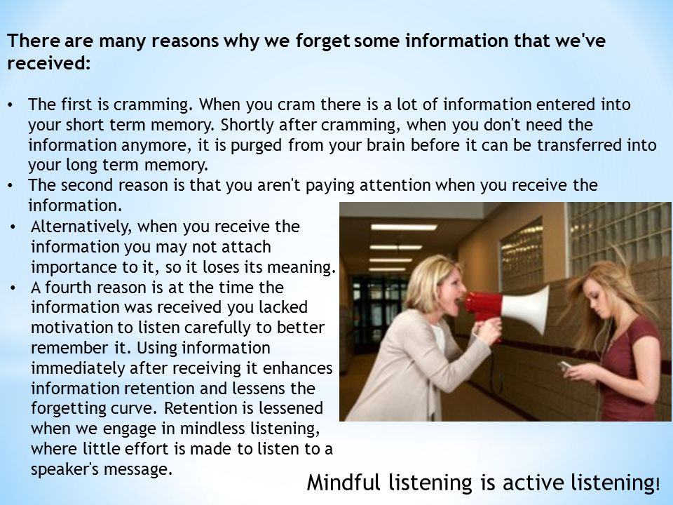 Mindful listening is active listening!