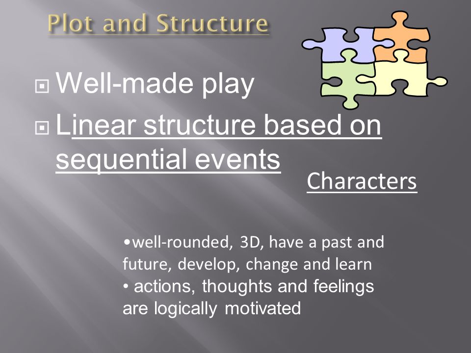 Linear structure based on sequential events