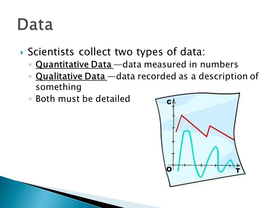 Data Scientists collect two types of data: