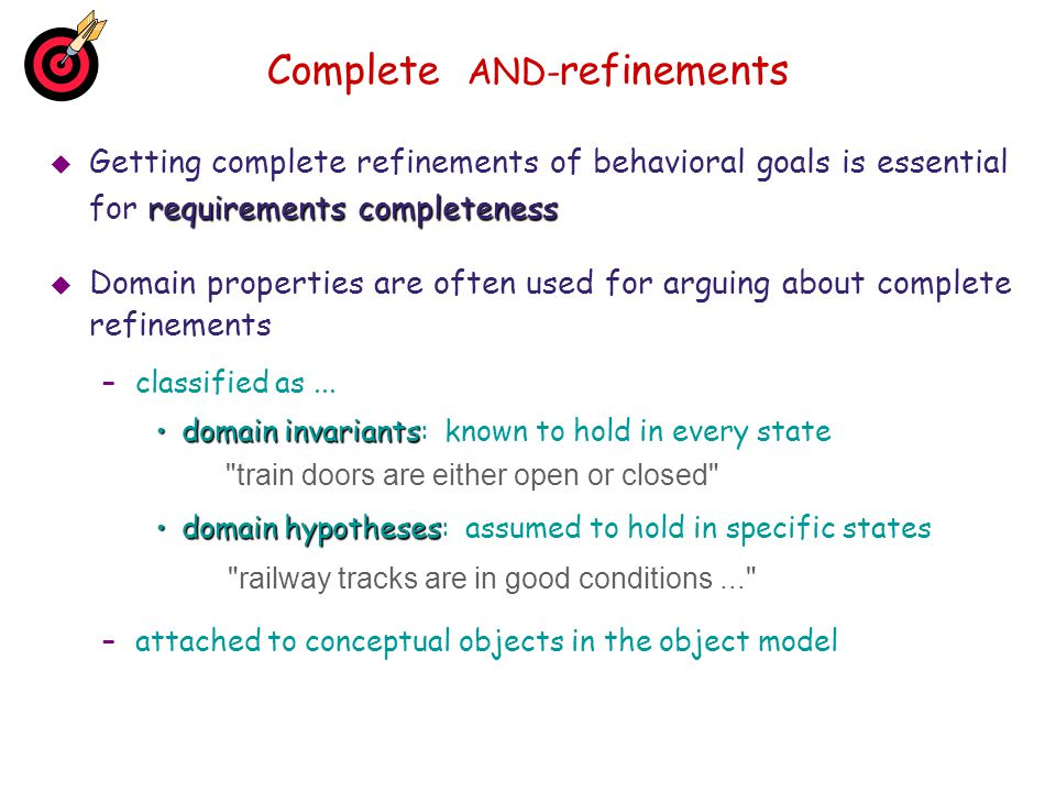 Complete AND-refinements