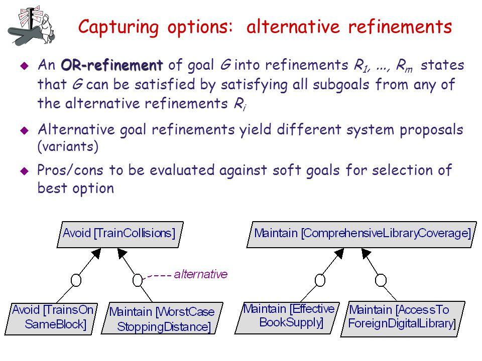 Capturing options: alternative refinements