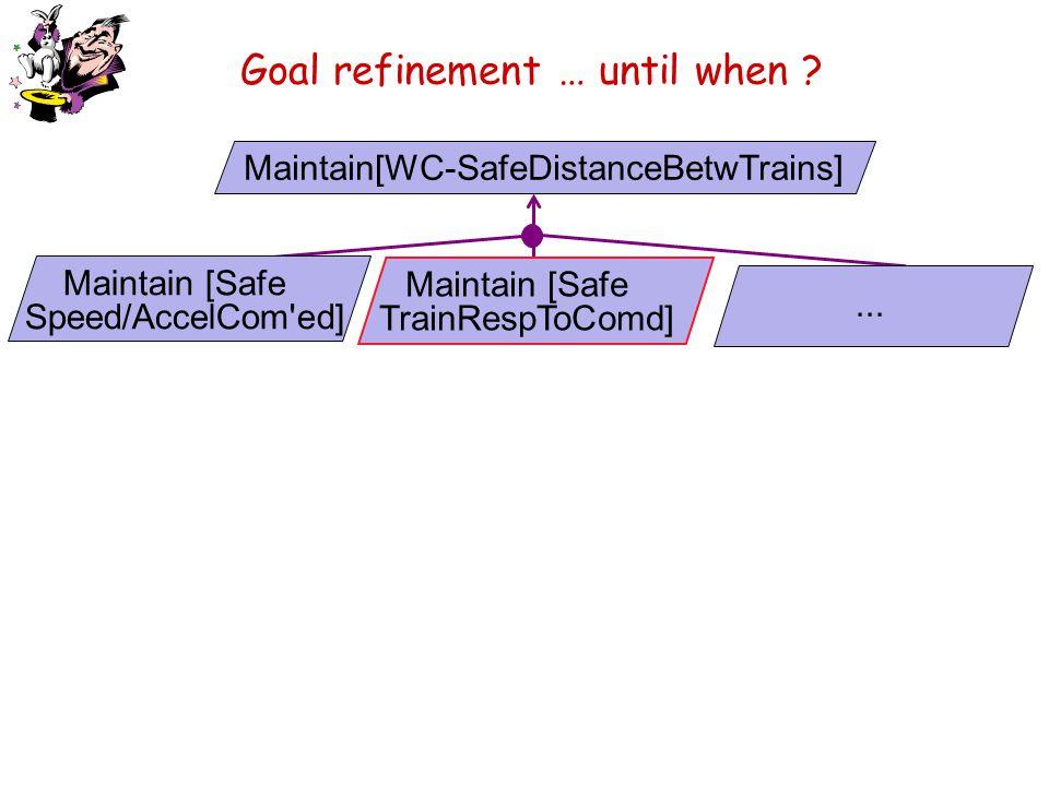 Goal refinement … until when