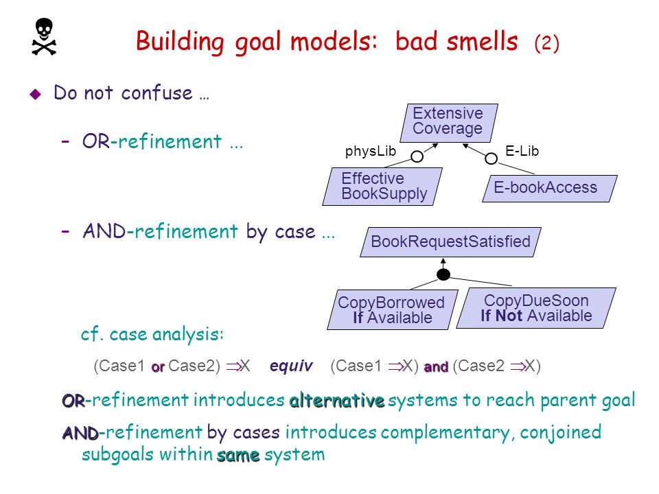 Building goal models: bad smells (2)