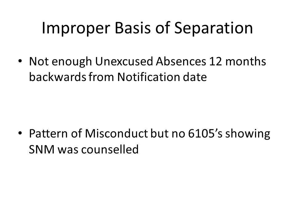 Improper Basis of Separation