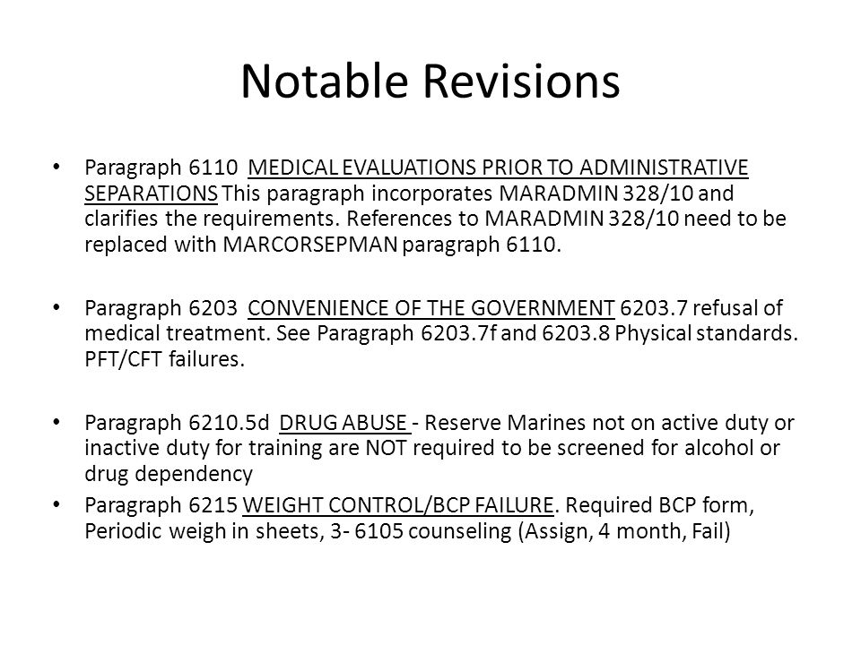 Notable Revisions