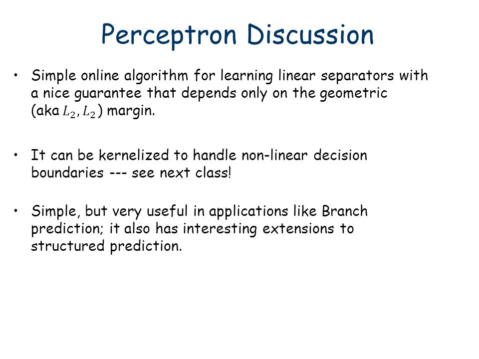 Perceptron Discussion