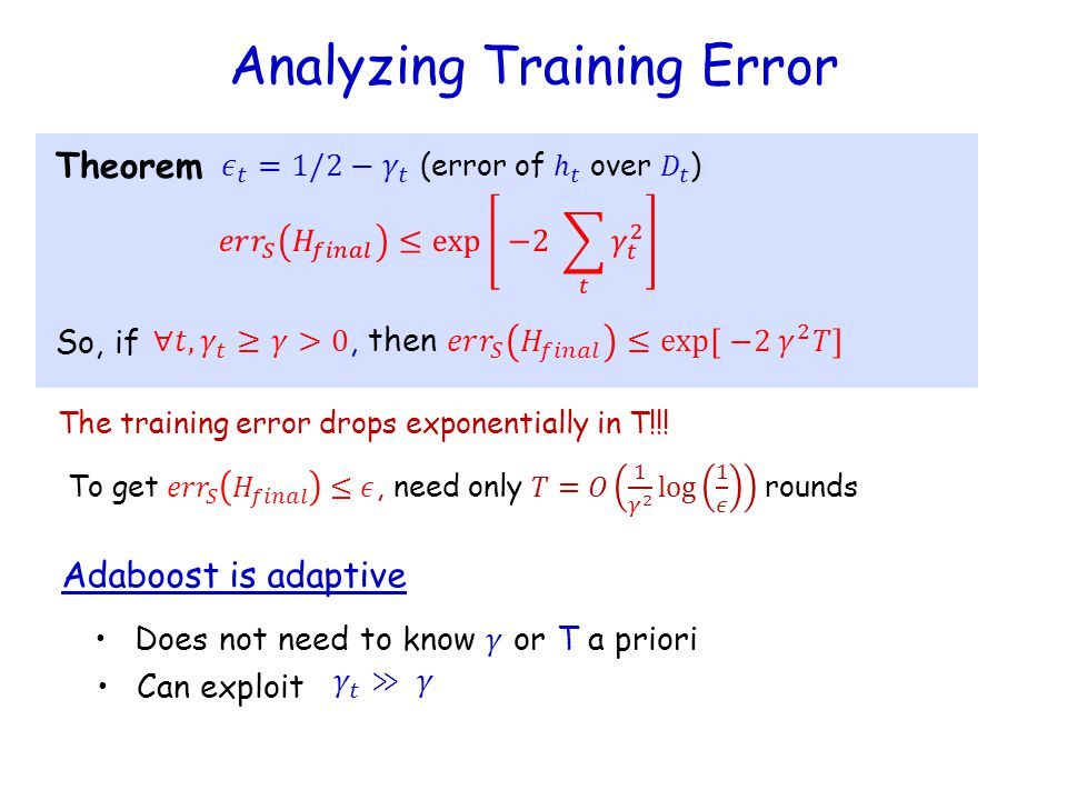 Analyzing Training Error