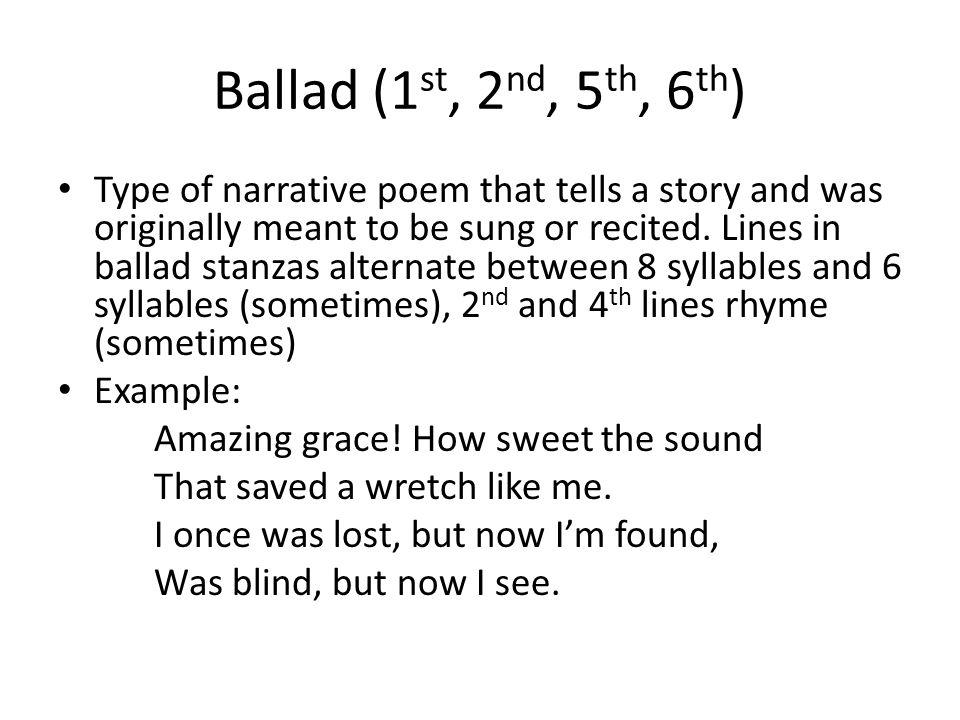Ballad (1st, 2nd, 5th, 6th)