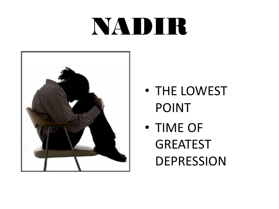 NADIR THE LOWEST POINT TIME OF GREATEST DEPRESSION
