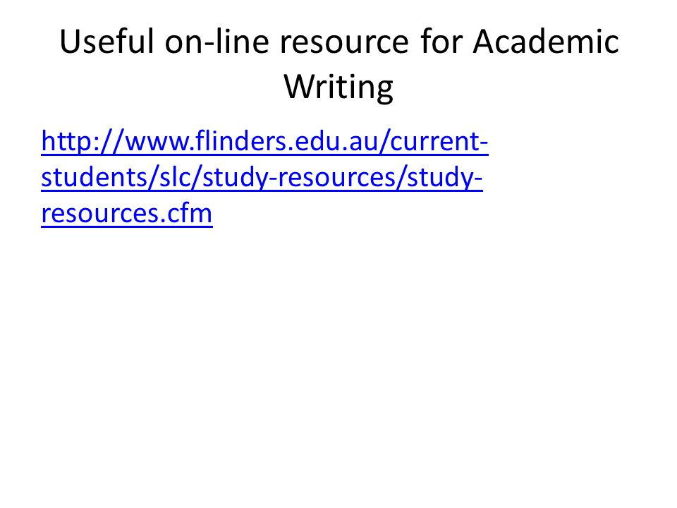 Useful on-line resource for Academic Writing
