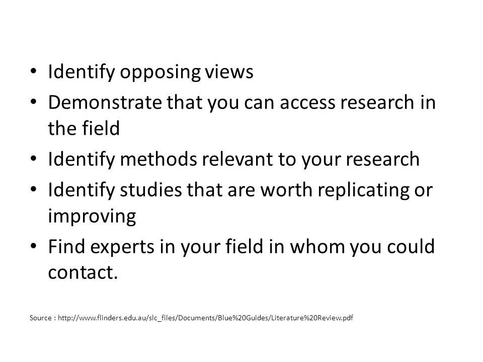 Identify opposing views