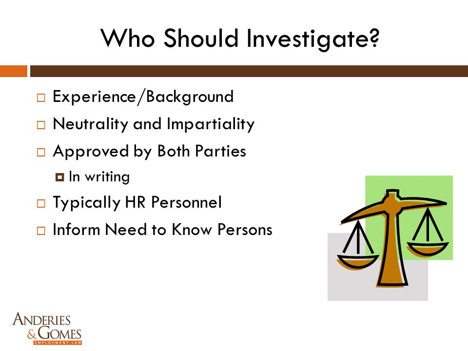 Who Should Investigate